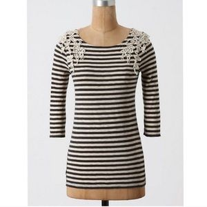 Anthropologie Deletta fancified boatbeck top
